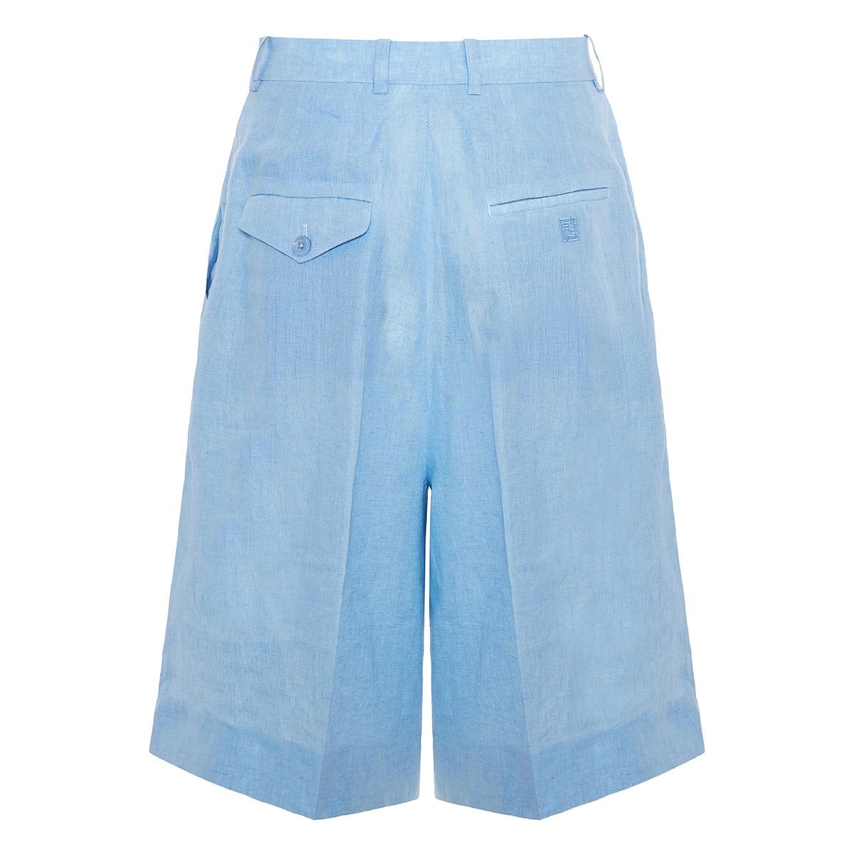 Linen long bermuda shorts