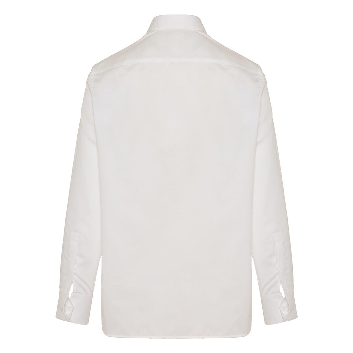 Metal-detailed poplin shirt