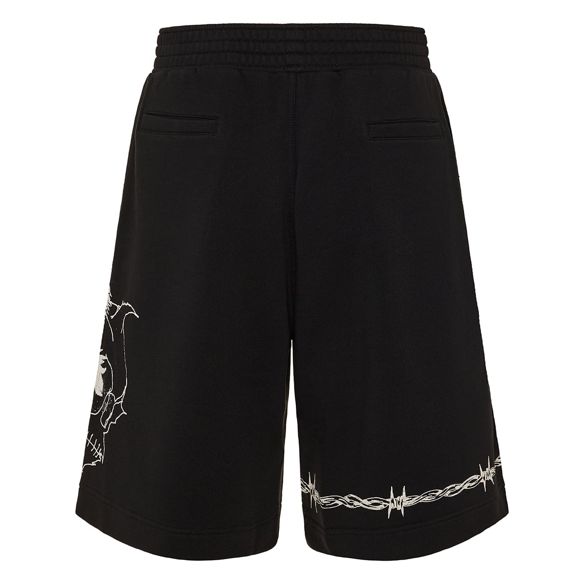 Printed cotton track shorts