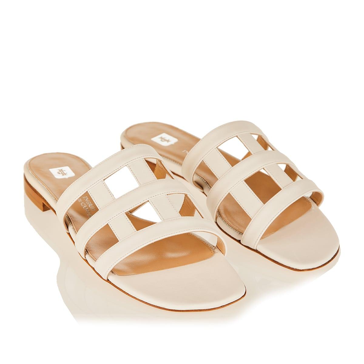 Giuli leather slide sandals