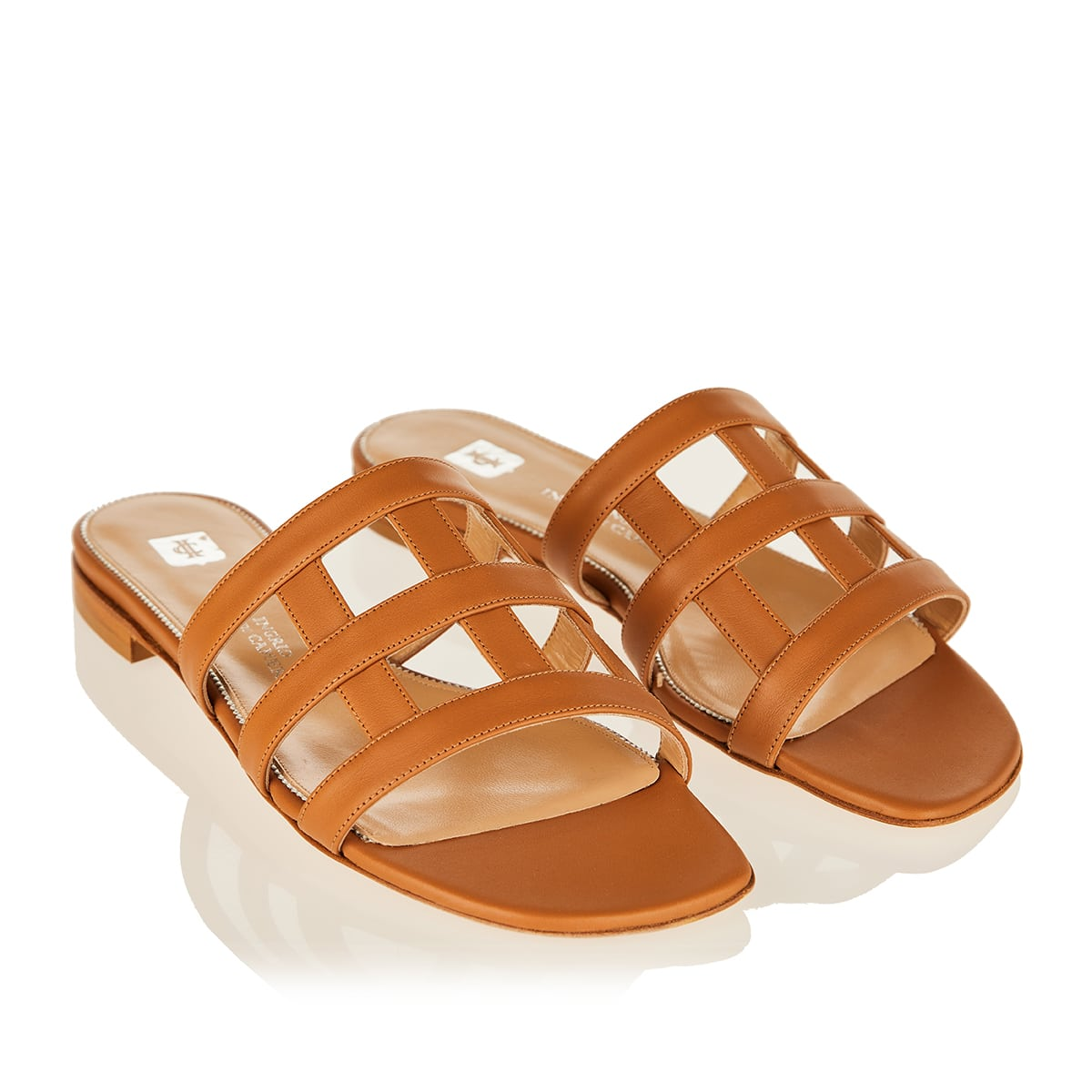 Giuli leather flat sandals