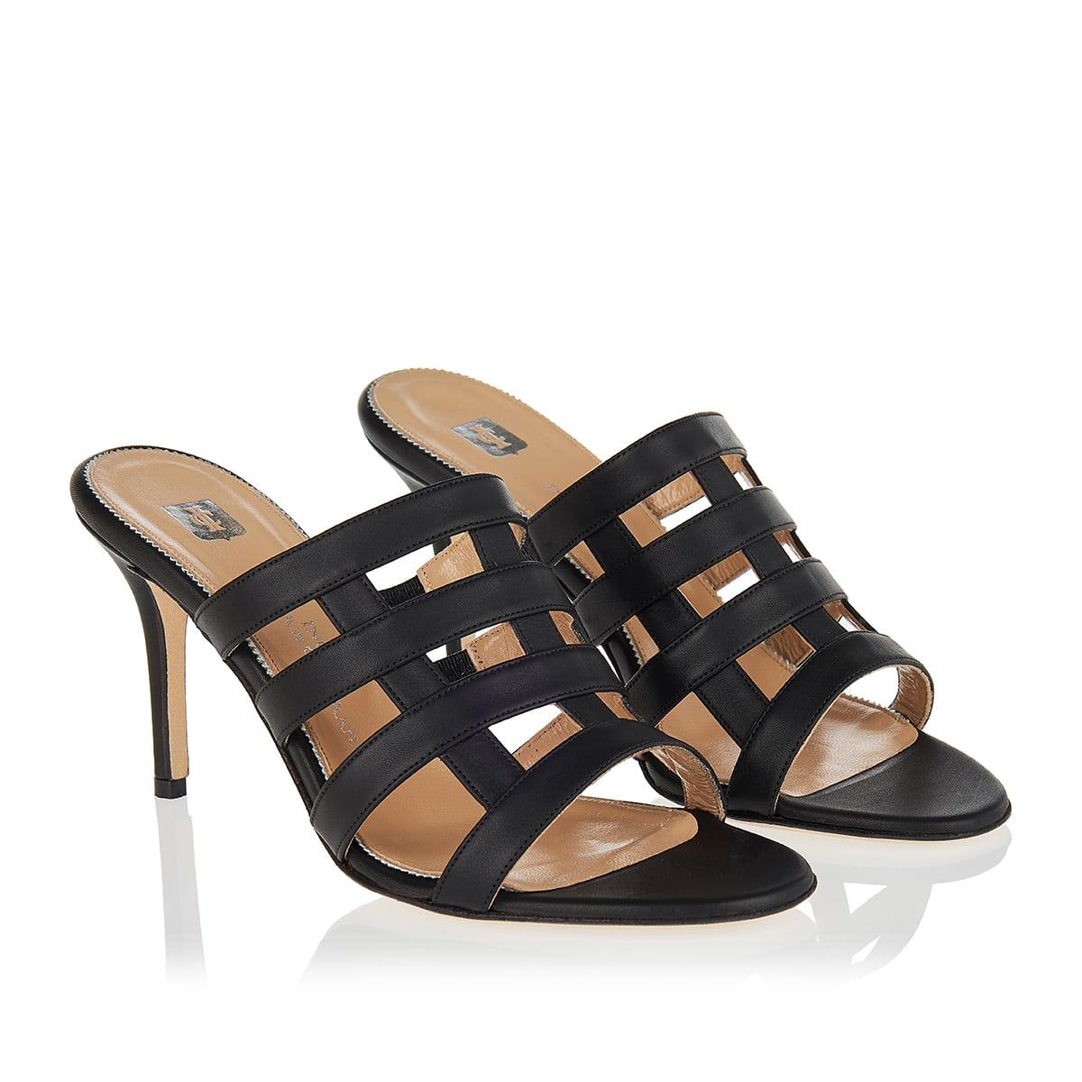 Clara Rosa leather mules