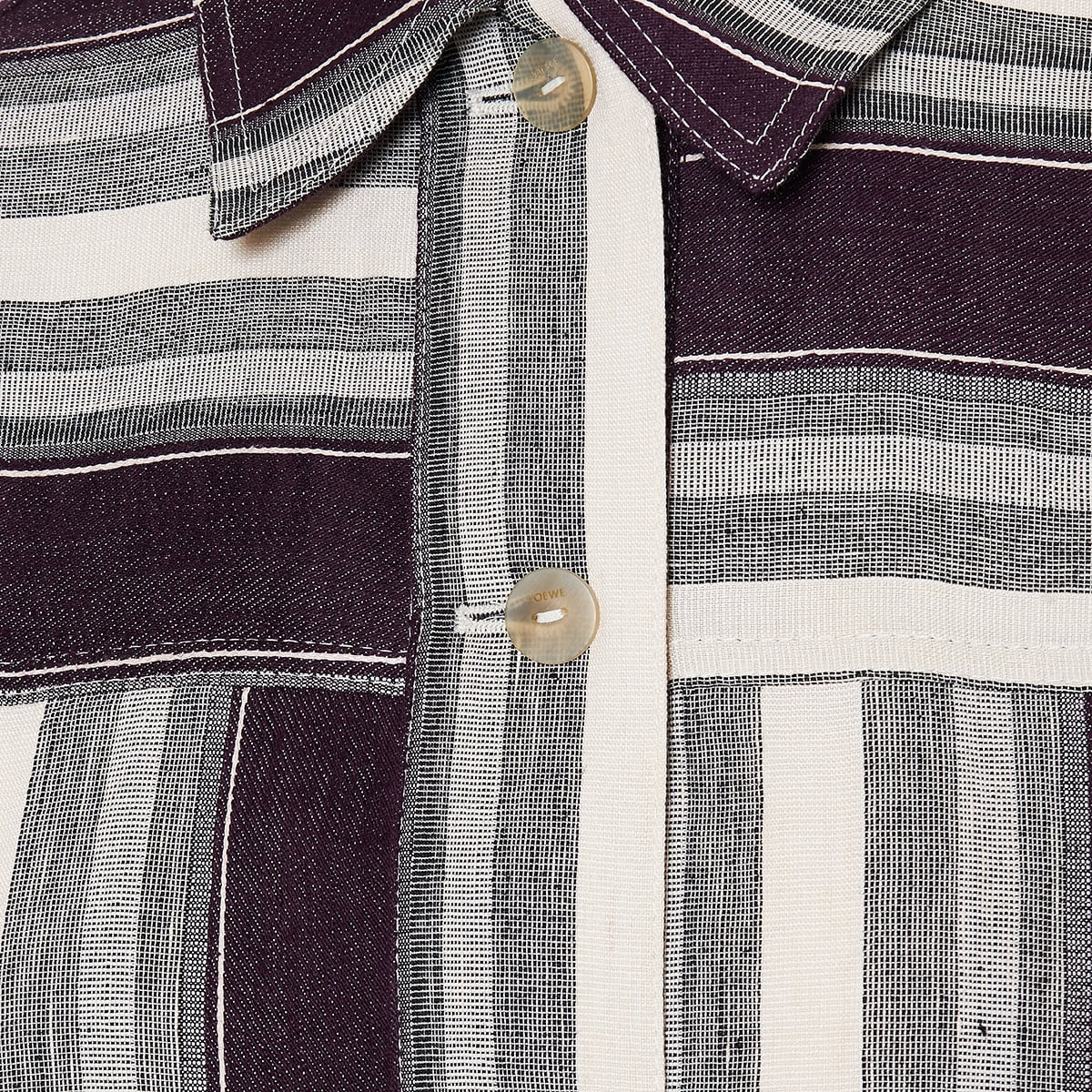Striped linen and cotton jacket