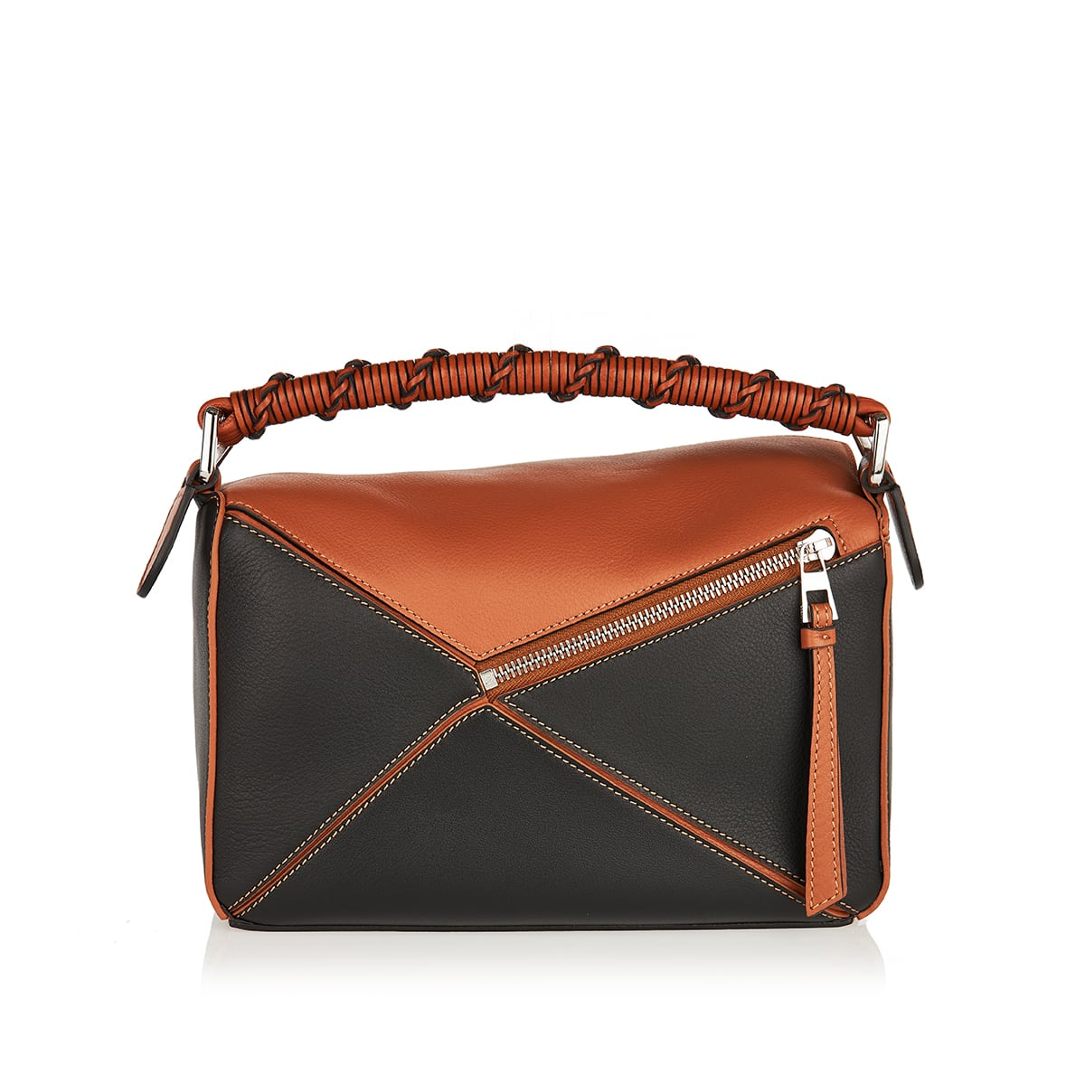 Puzzle Edge small leather bag