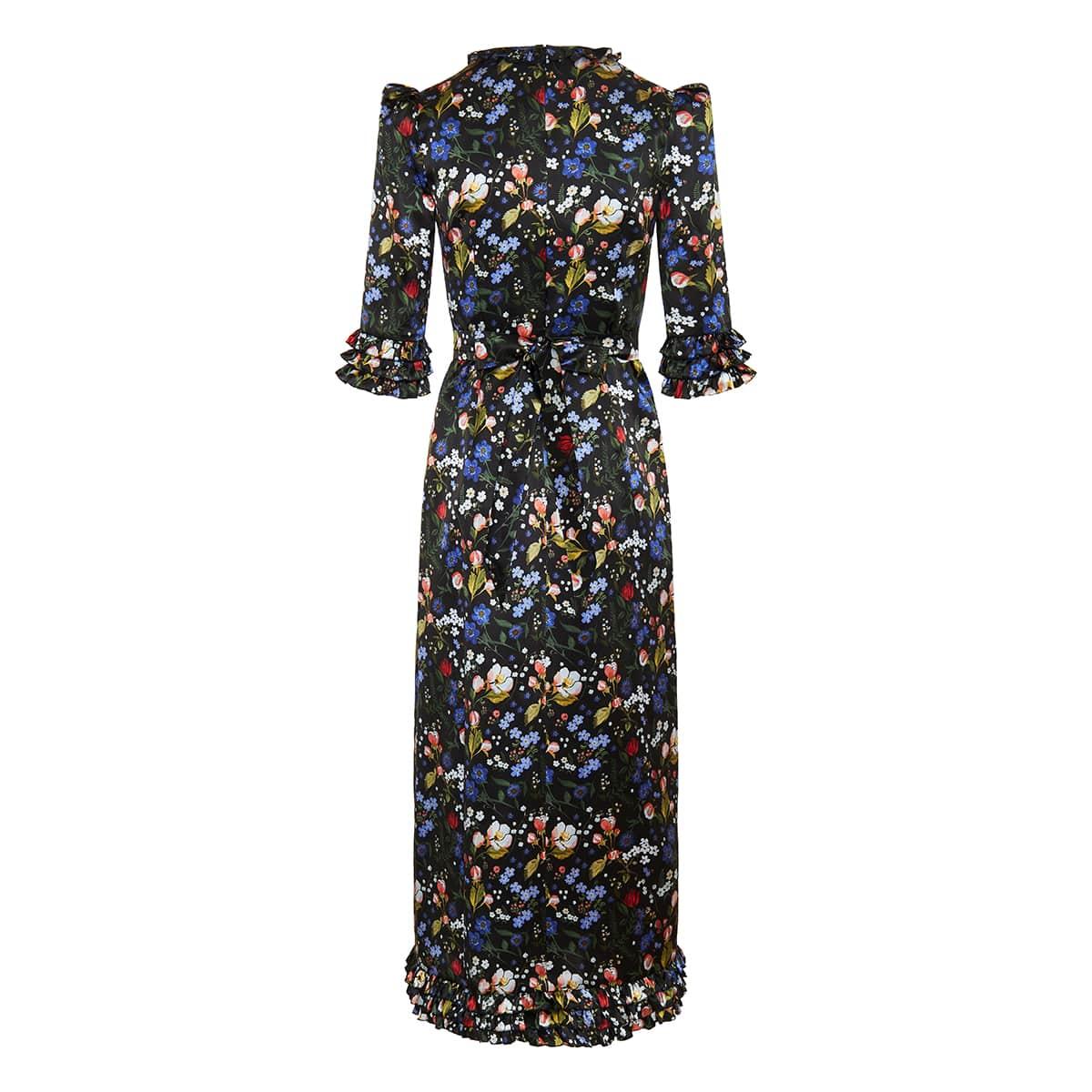 The Cinderella floral silk long dress