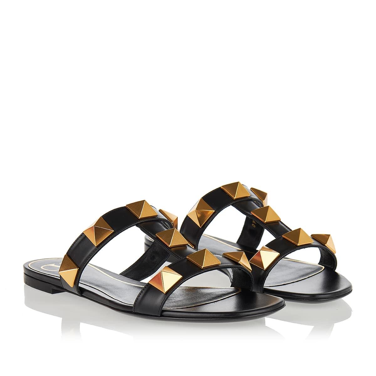 Roman Stud leather slide sandals