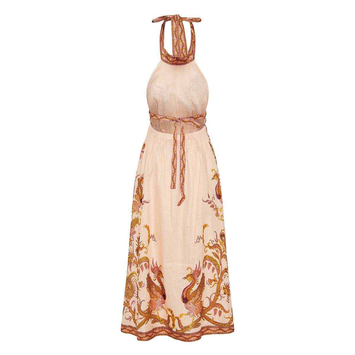 Cassia printed halterneck long dress
