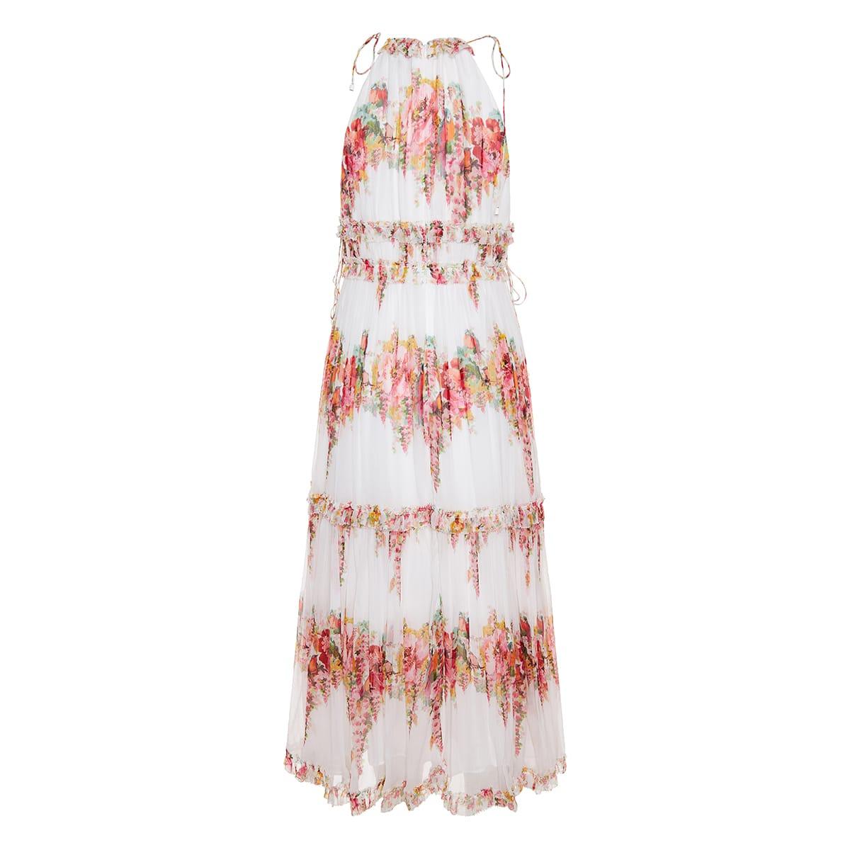 Mae floral tiered midi dress