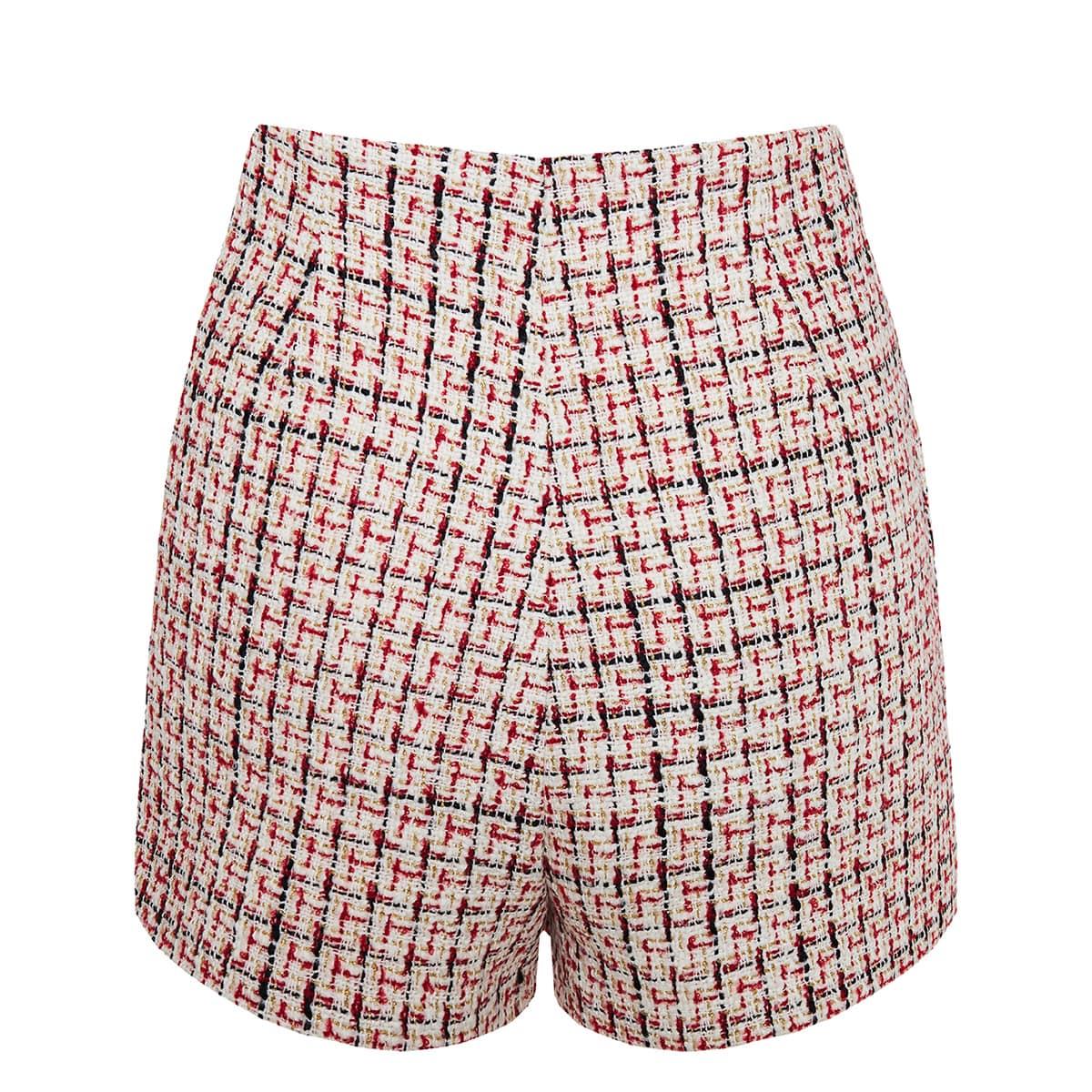 Tweed mini shorts