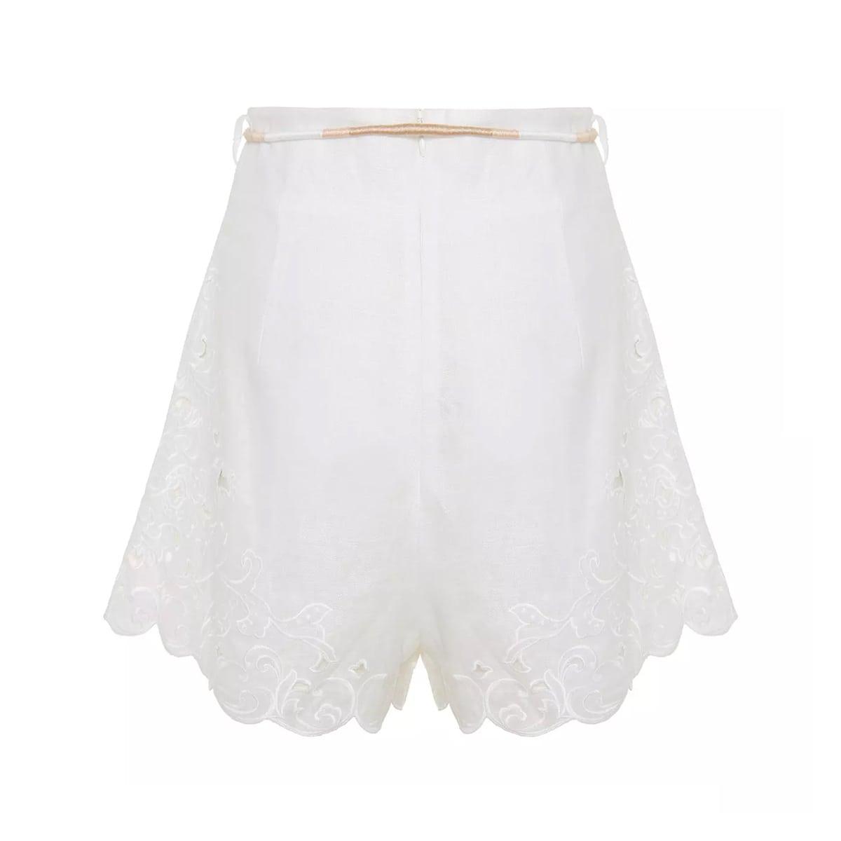 Nina broderie-anglaise linen shorts