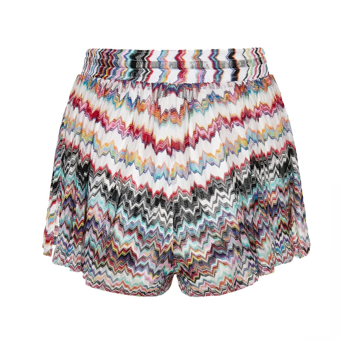Patterned knit shorts