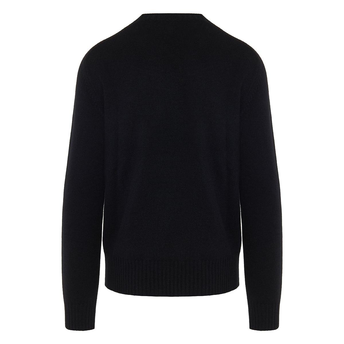 Beaded-skull cashmere sweater