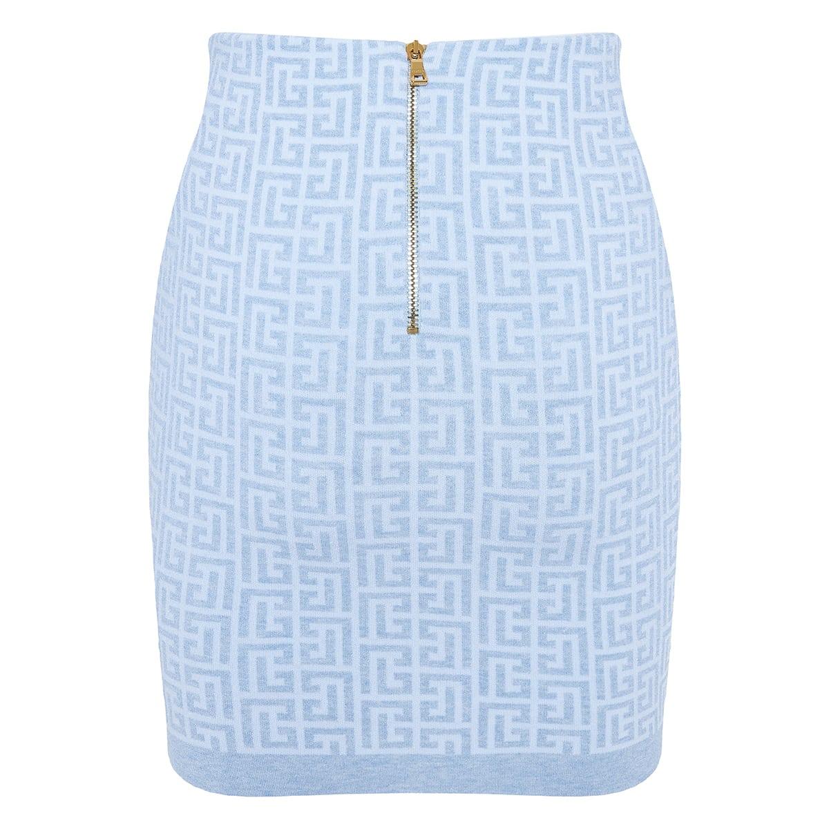 Monogram knitted mini skirt