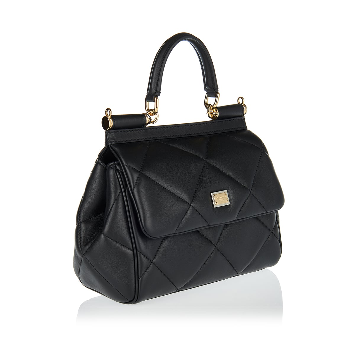 Sicily small quilted leather bag