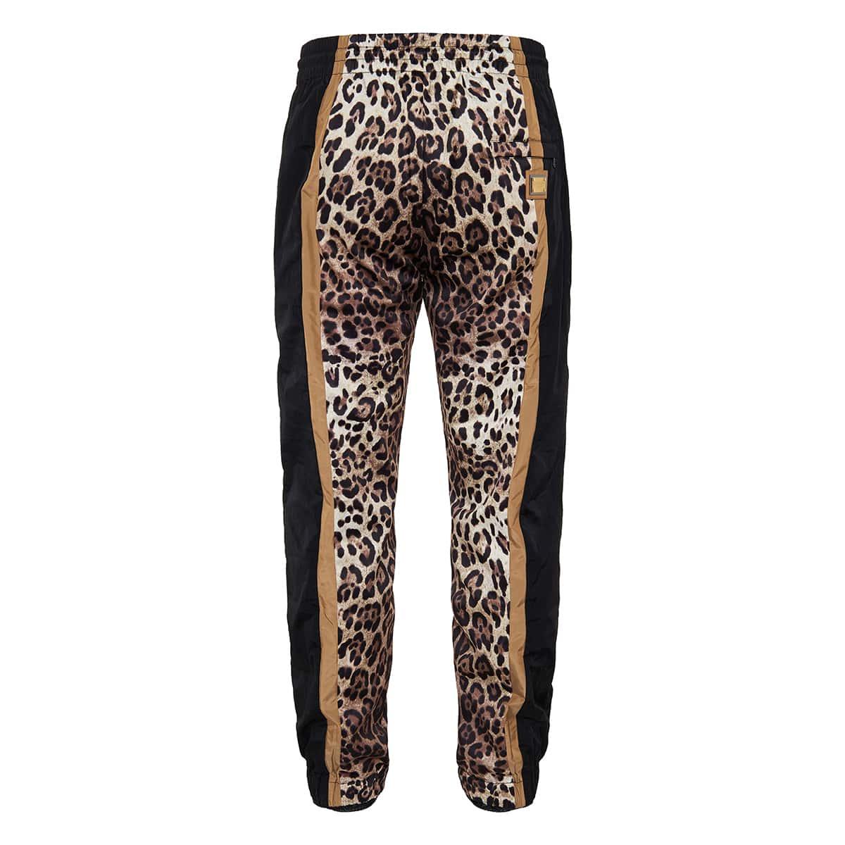 Leopard print jogging trousers