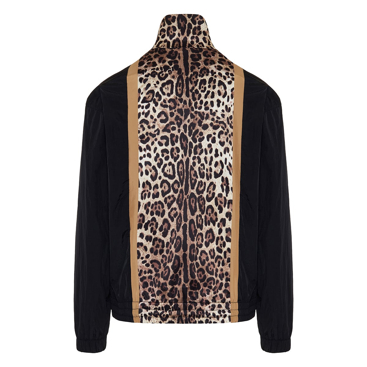 Leopard printed nylon jacket