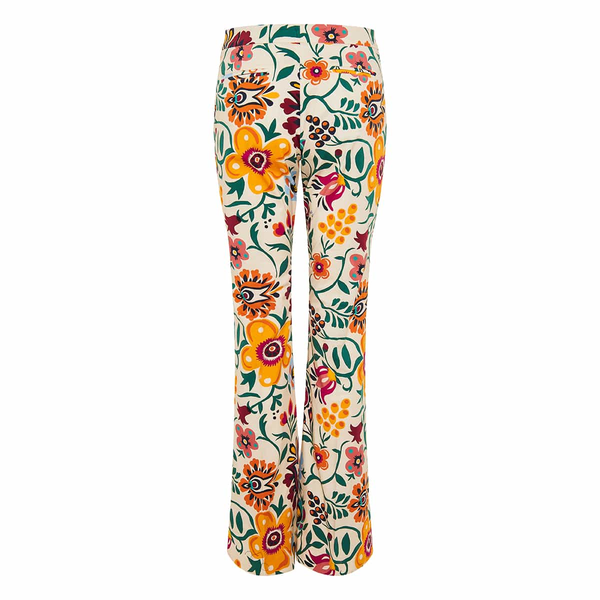 Saturday Night floral flared trousers