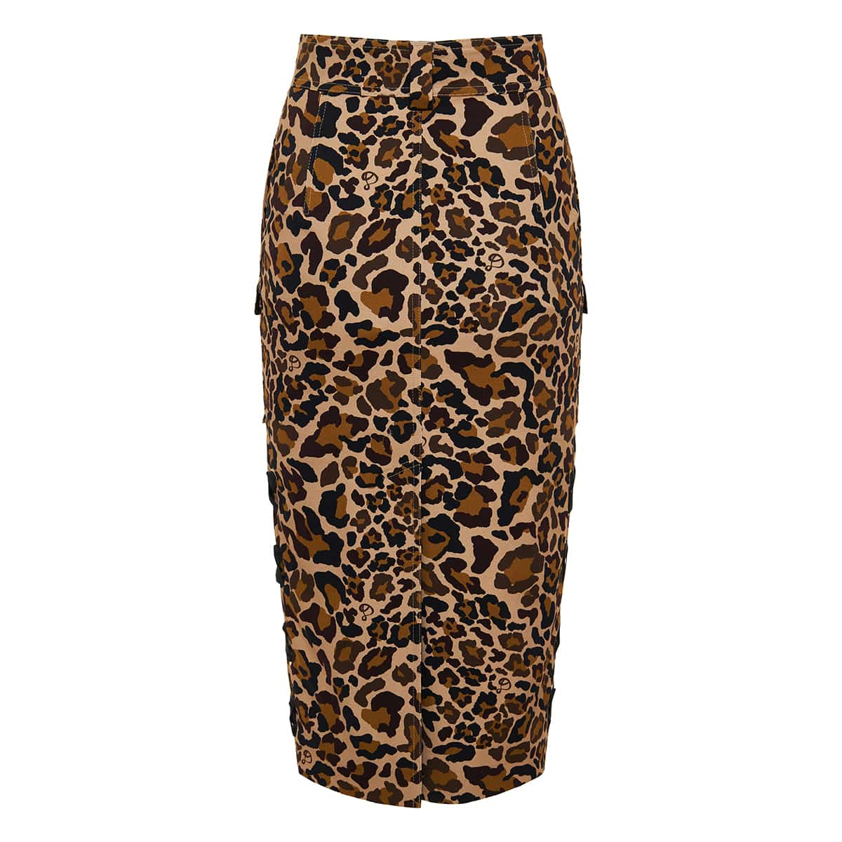 Ryder leopard print midi skirt