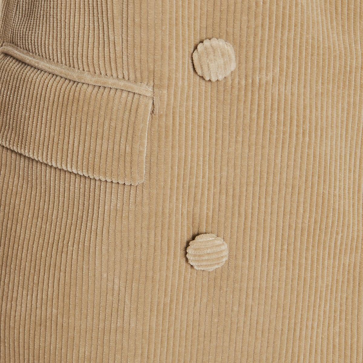 Double-breasted corduroy blazer