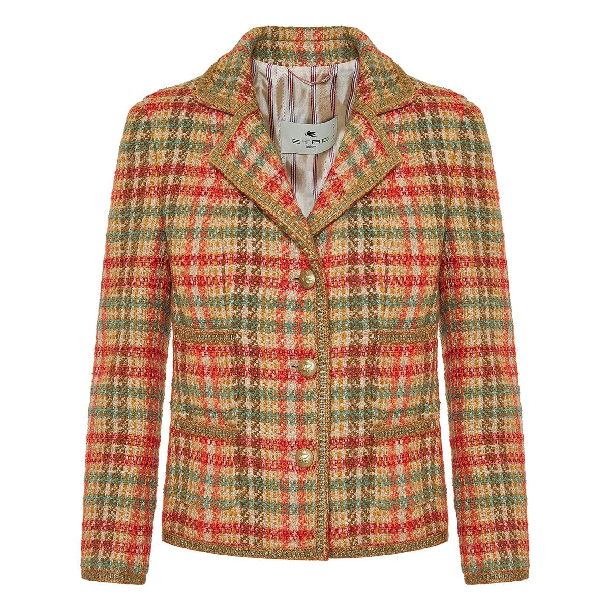 Tweed checked jacket