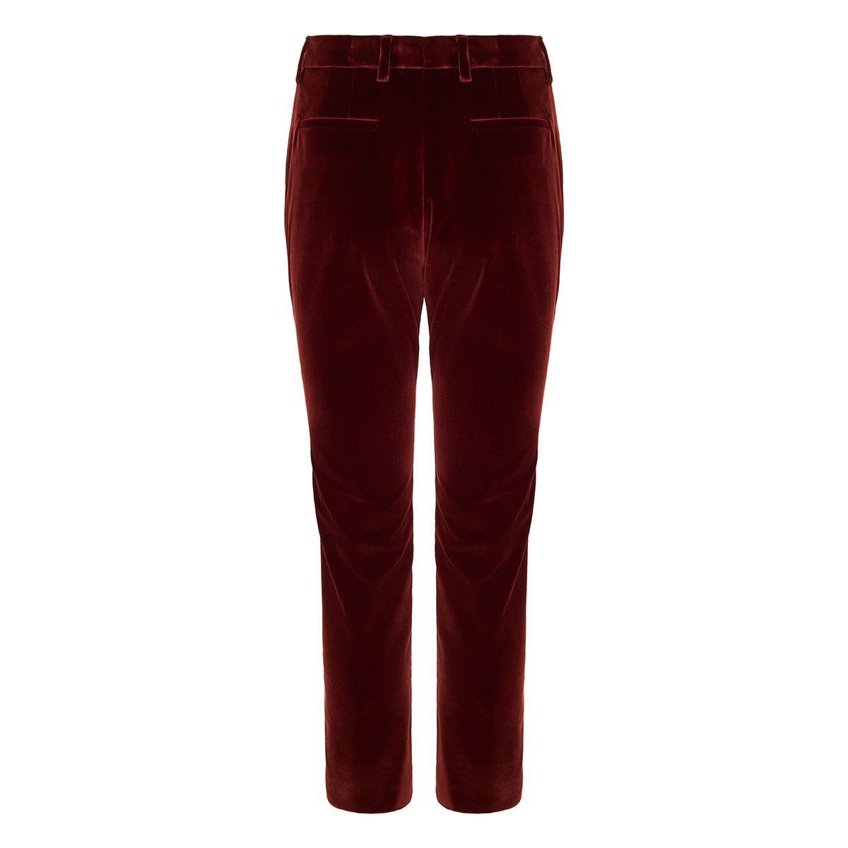 Straight-leg velvet trousers