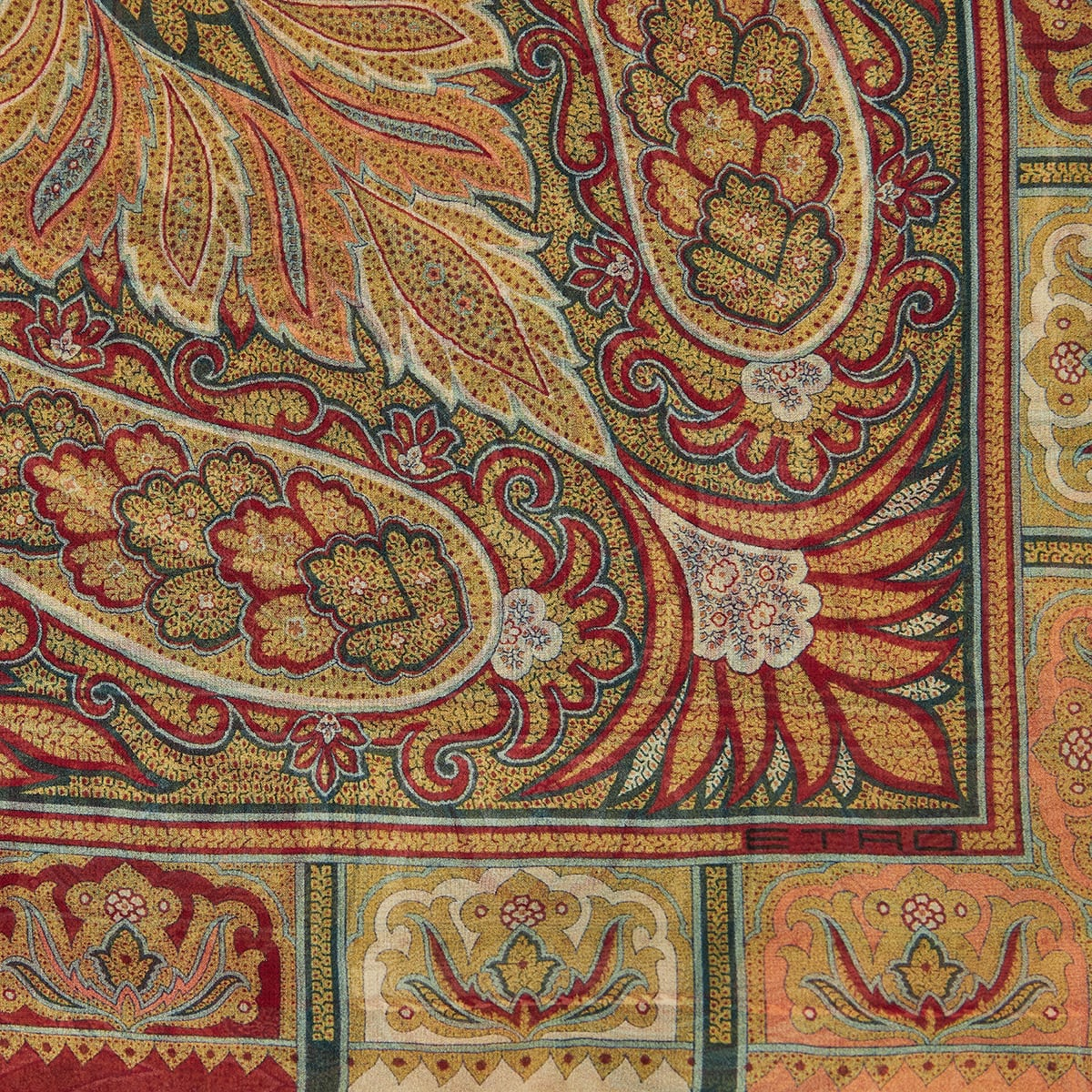 Paisley print silk shawl