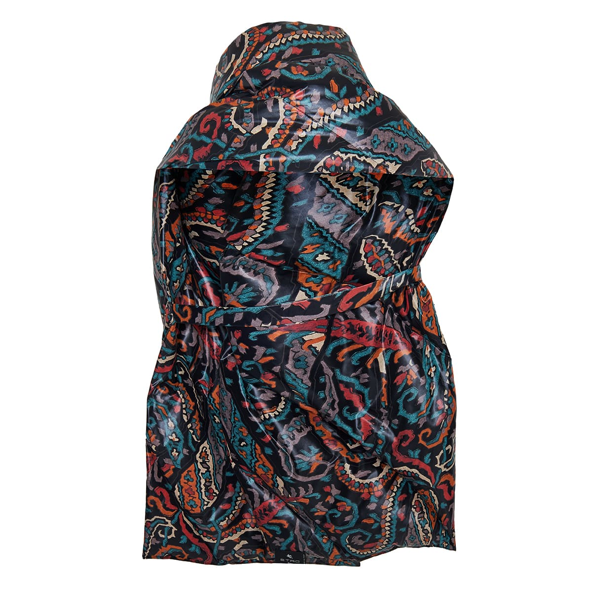 Printed puffer down scarf