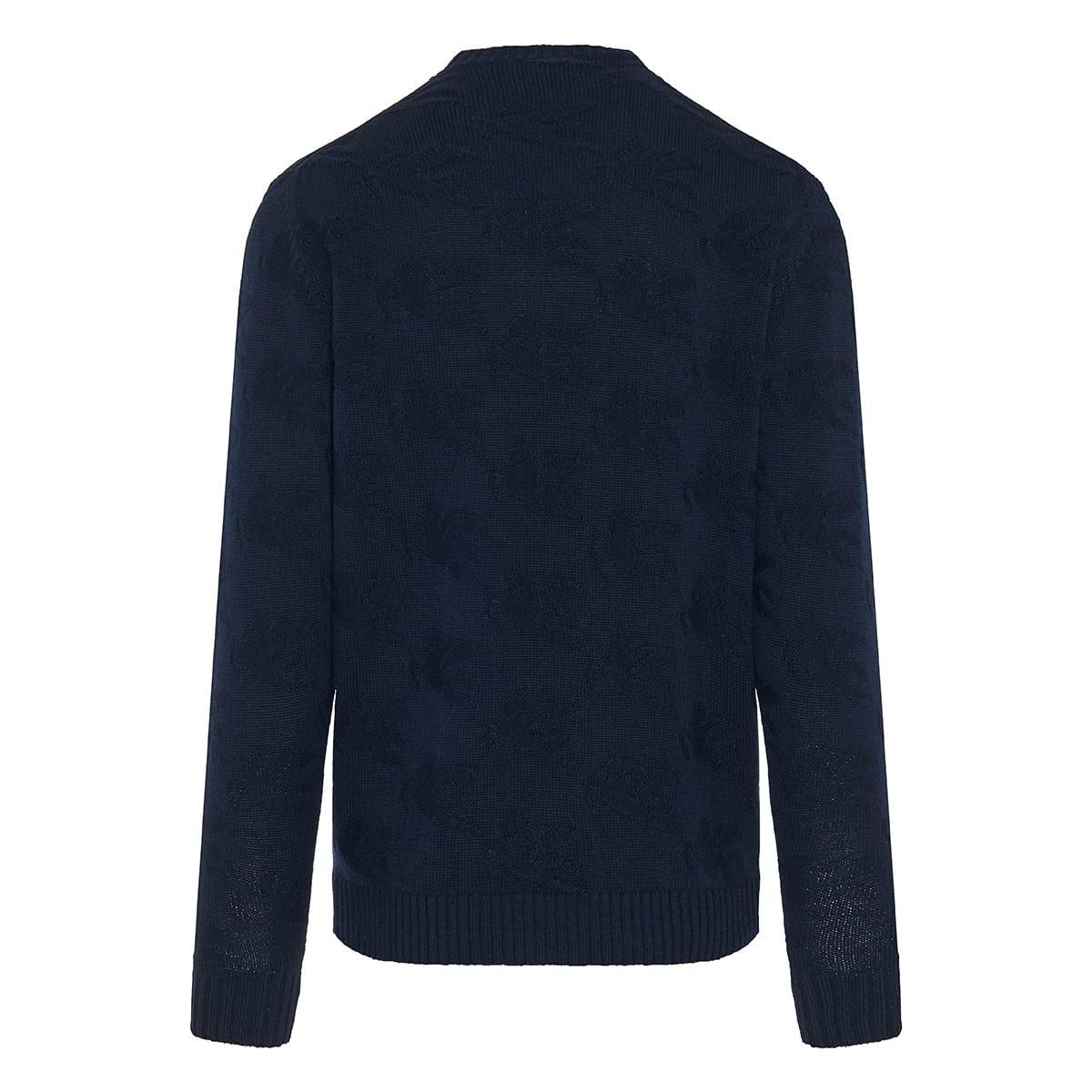 Pegaso jacquard wool sweater