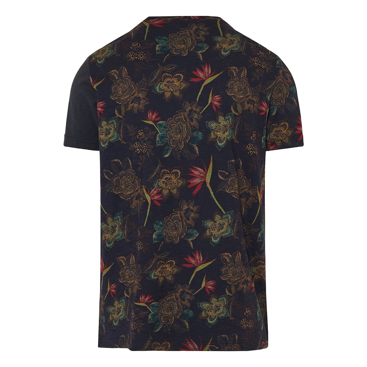 Patchwork printed cotton t-shirt
