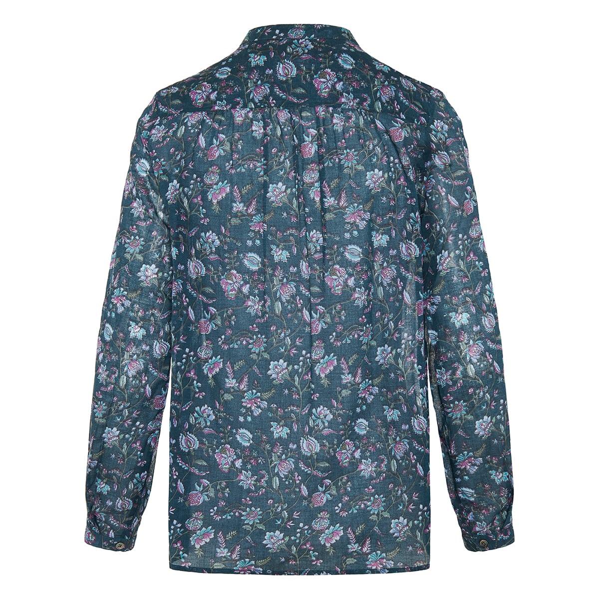Maria floral cotton shirt