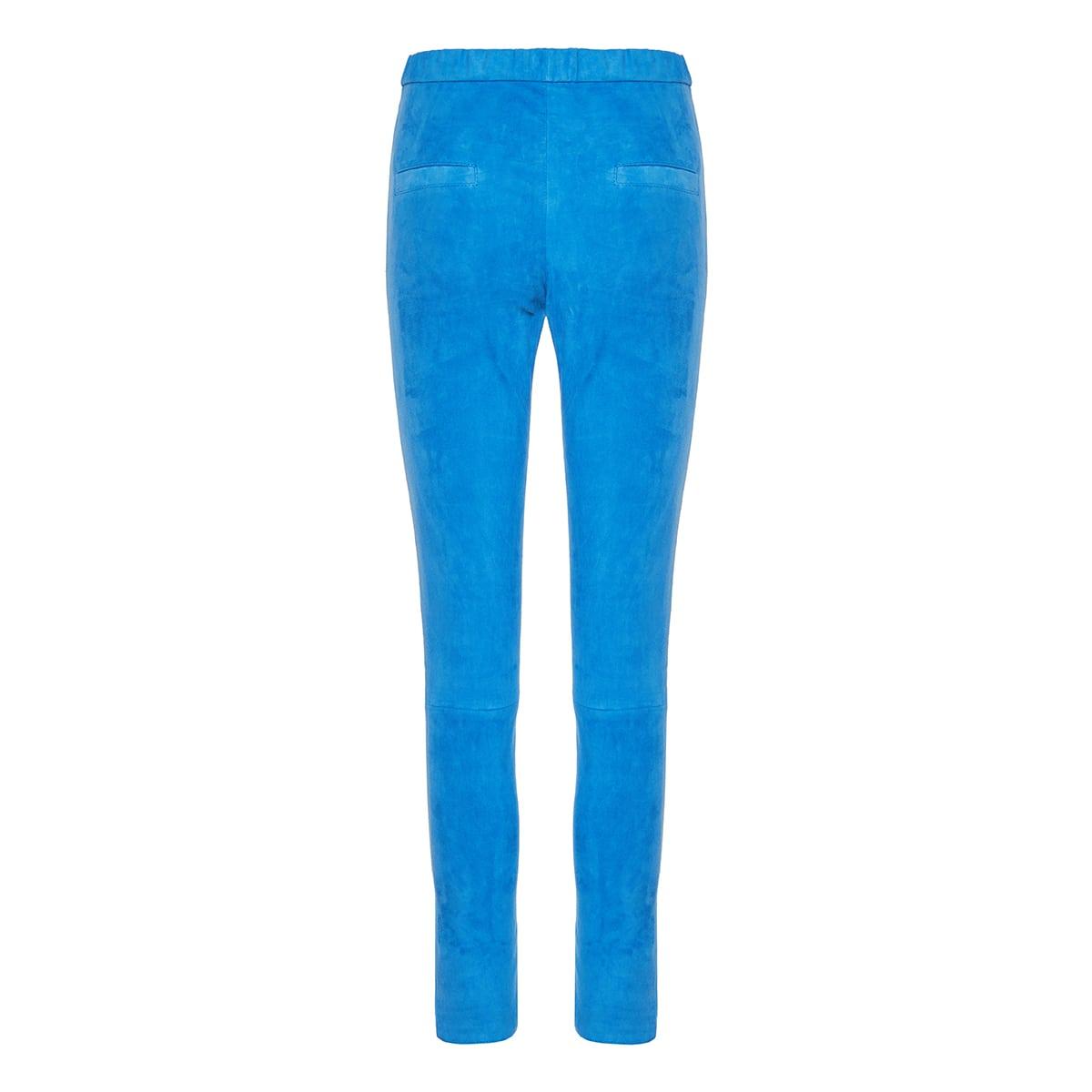 Ajuliko skinny-fit suede trousers