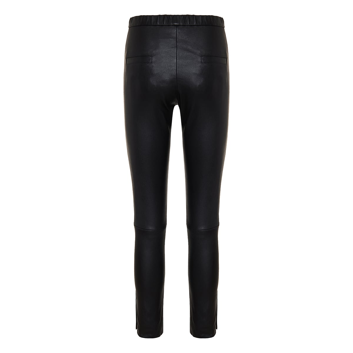 Skinny-fit leather trousers