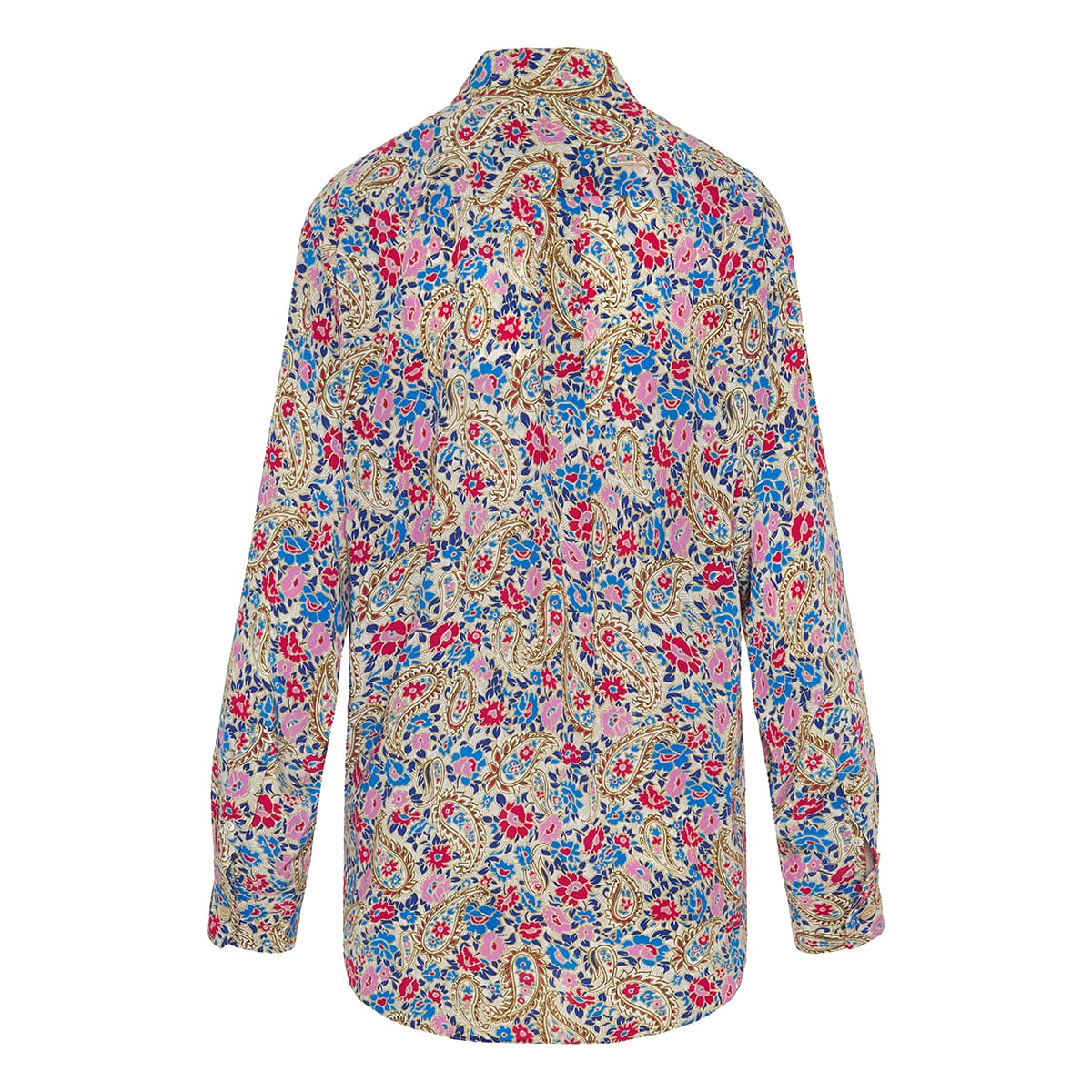 Paisley floral silk shirt