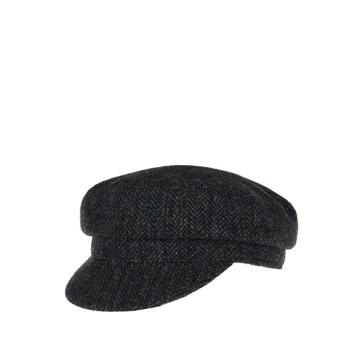 Evie herringbone wool cap