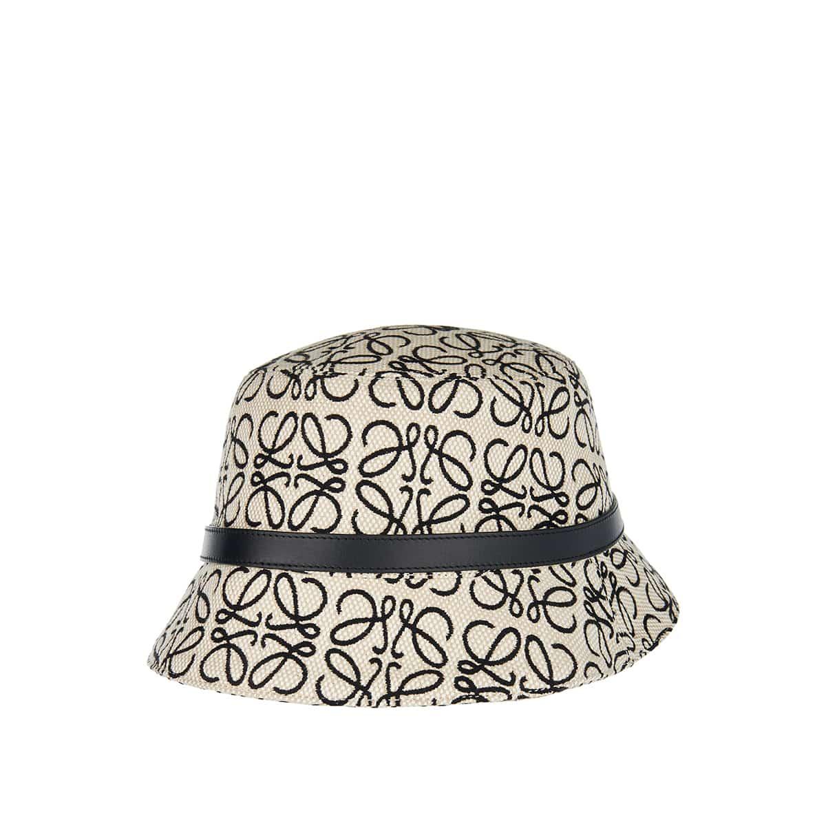 Anagram jacquard bucket hat