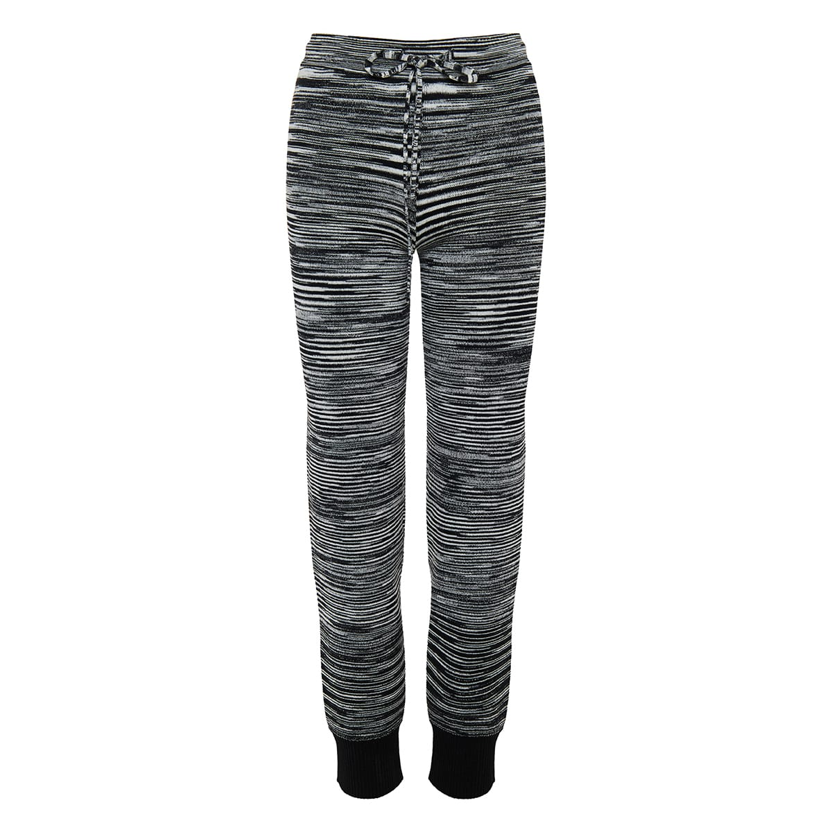 Graphic knitted trousers