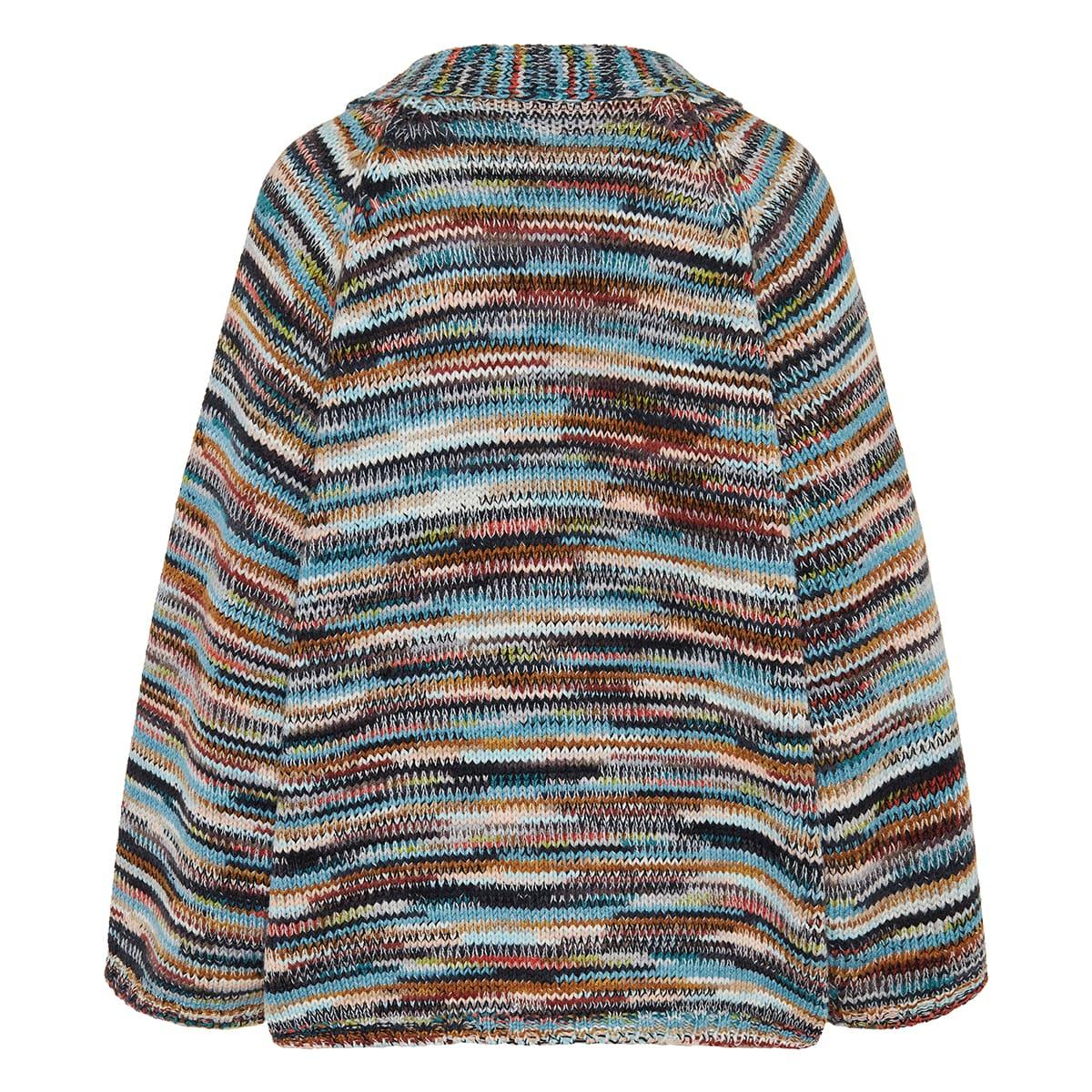 Patterned cashmere cardigan
