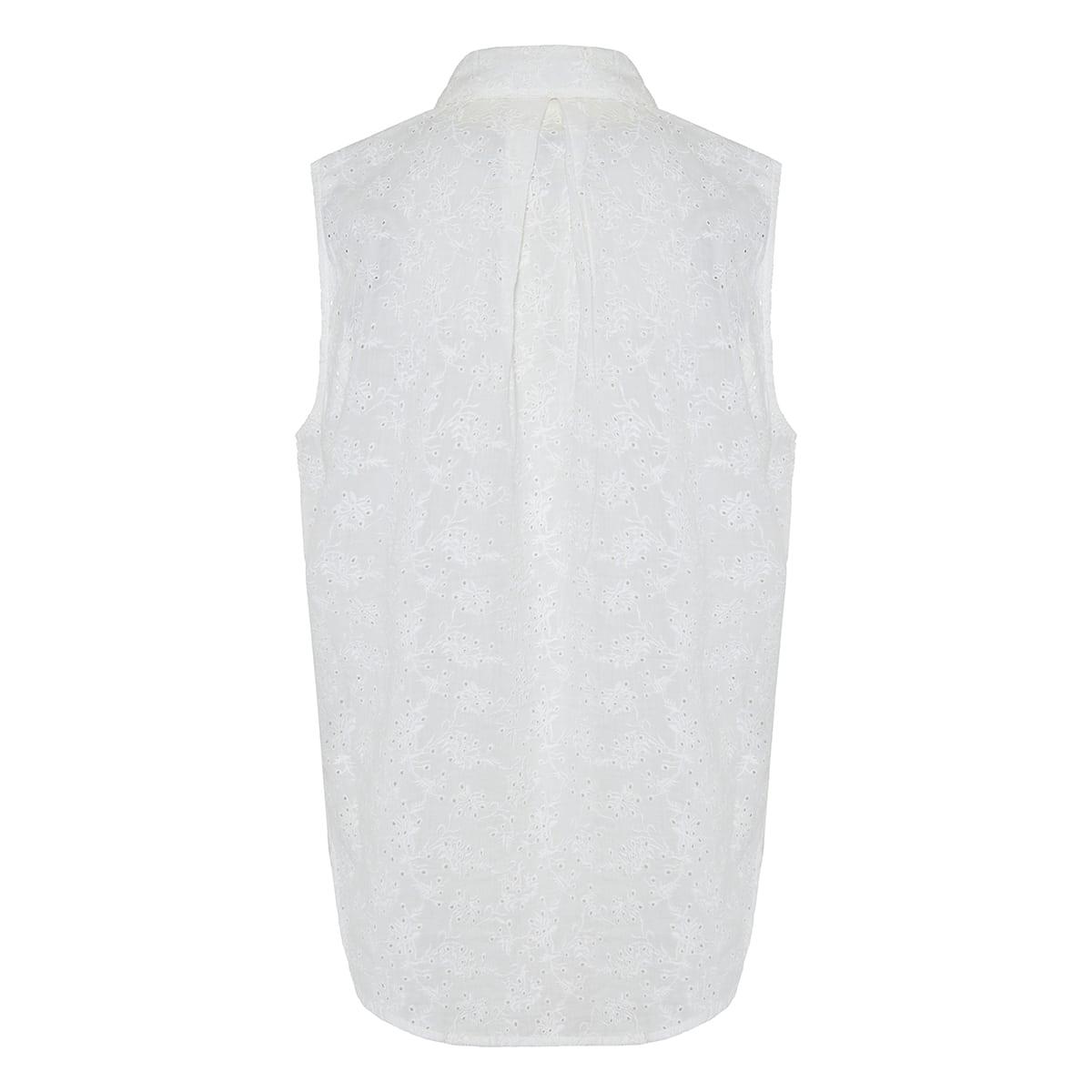 April broderie anglaise sleeveless shirt