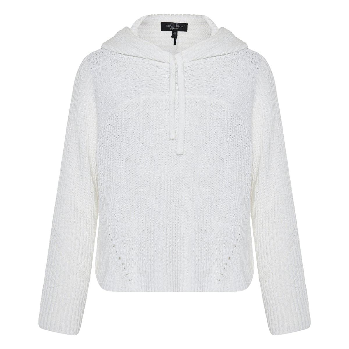 Sunny ribbed hood sweater