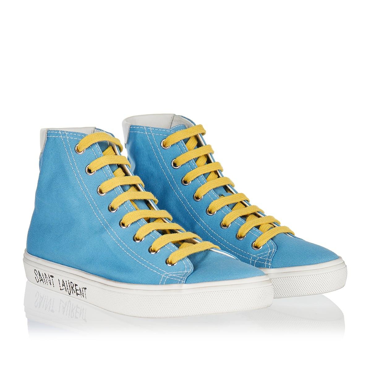 Malibu high-top canvas sneakers