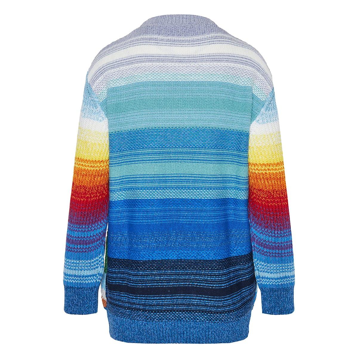 Oversized intarsia wool sweater