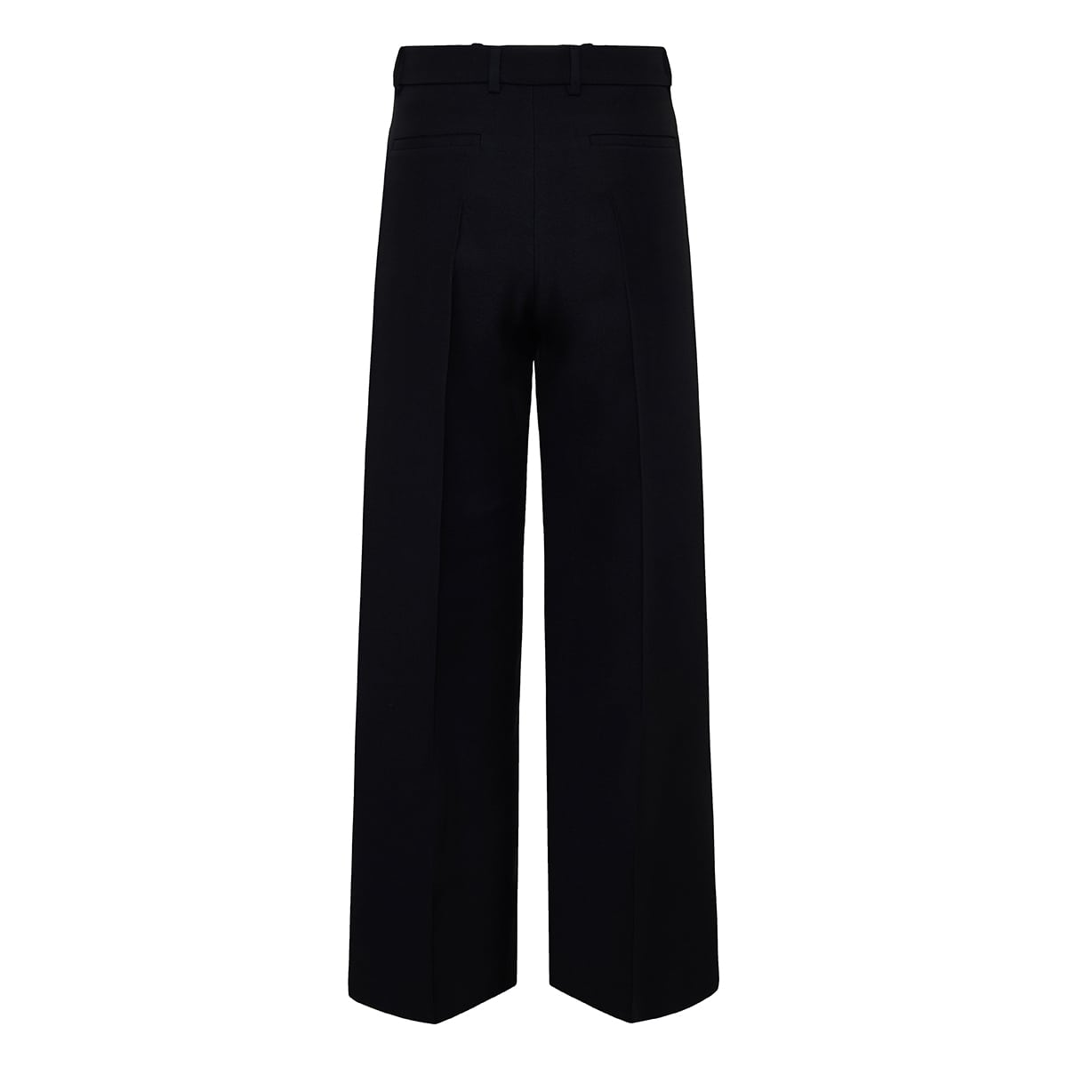 Wide-leg cropped crepe trousers