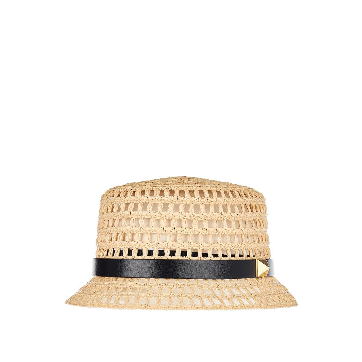 Roman Stud straw bucket hat