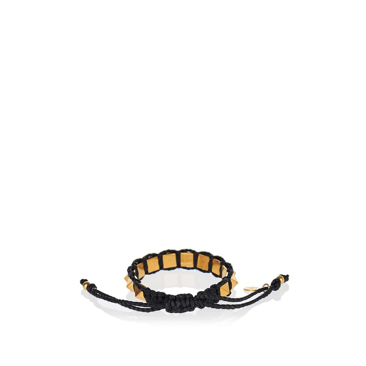 Rockstud macramé bracelet