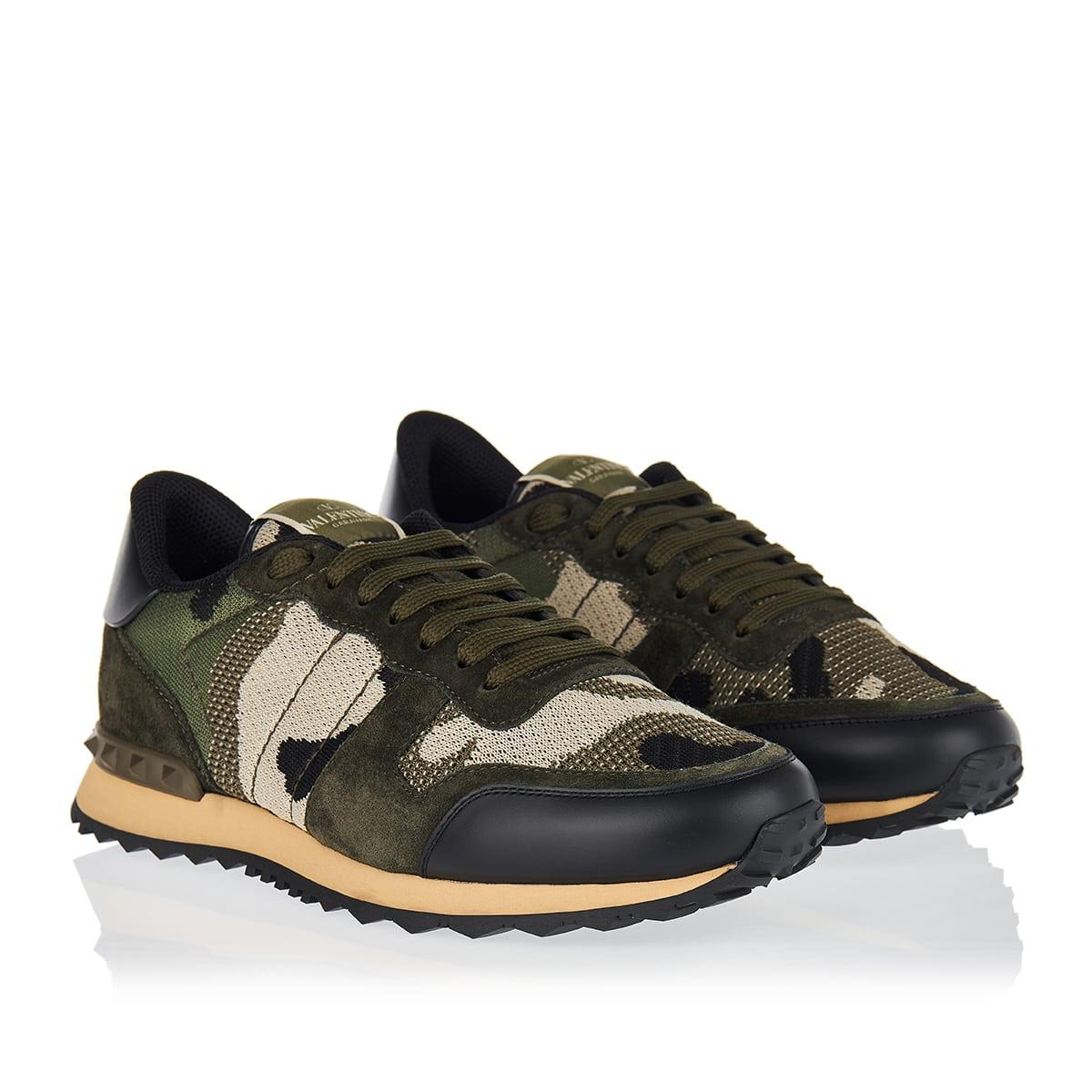 Camouflage Rockrunner mesh sneakers