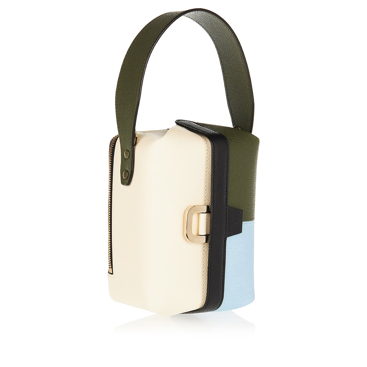 Tric Trac color-block leather bucket bag