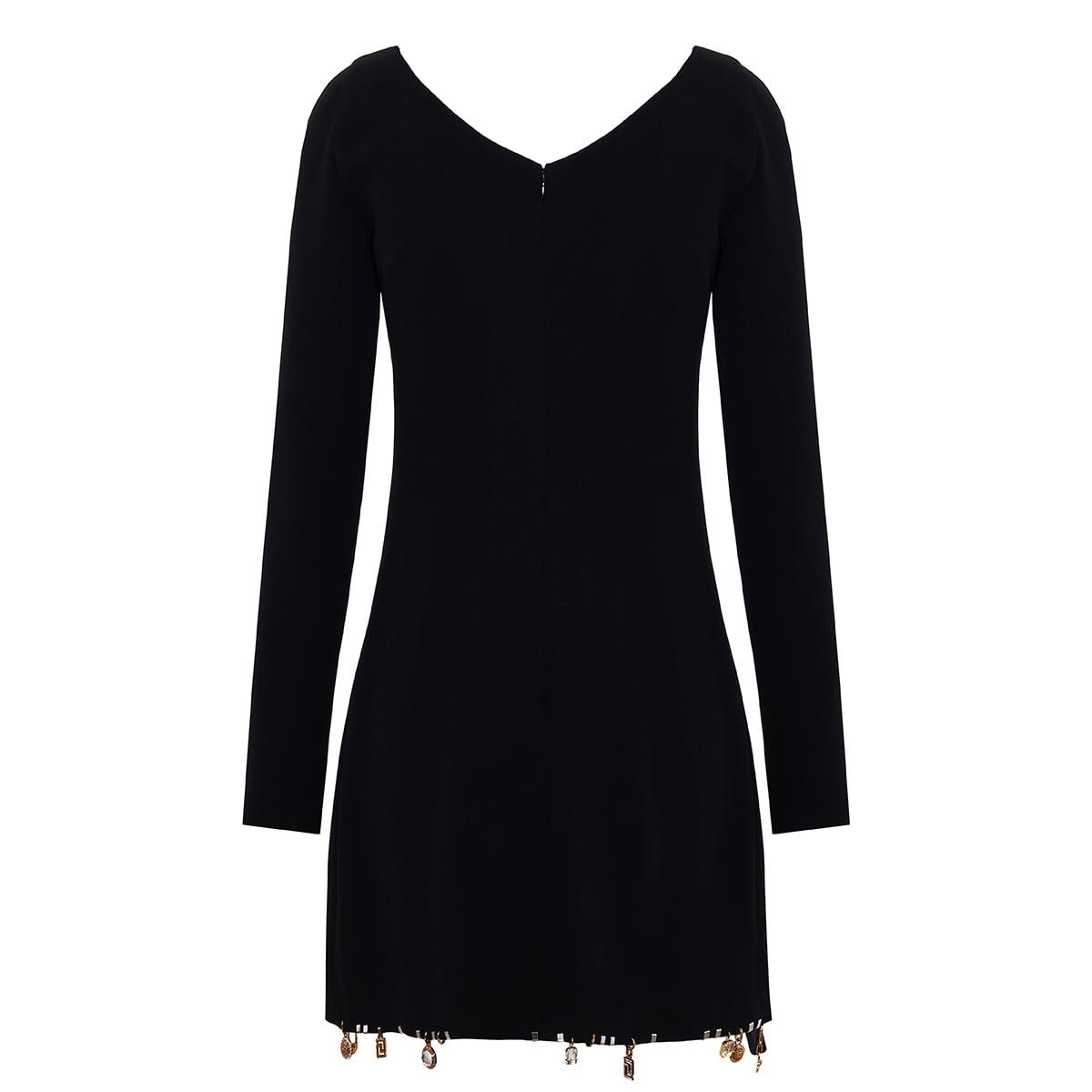 Embellished silk mini dress