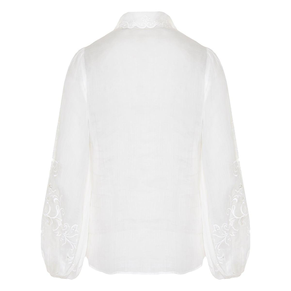 Nina broderie-anglaise ramie shirt