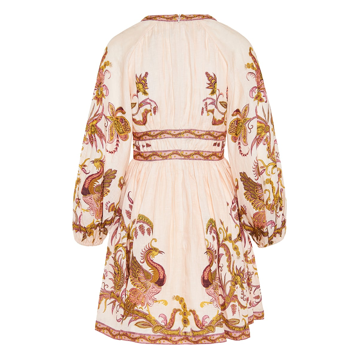 Cassia printed linen mini dress