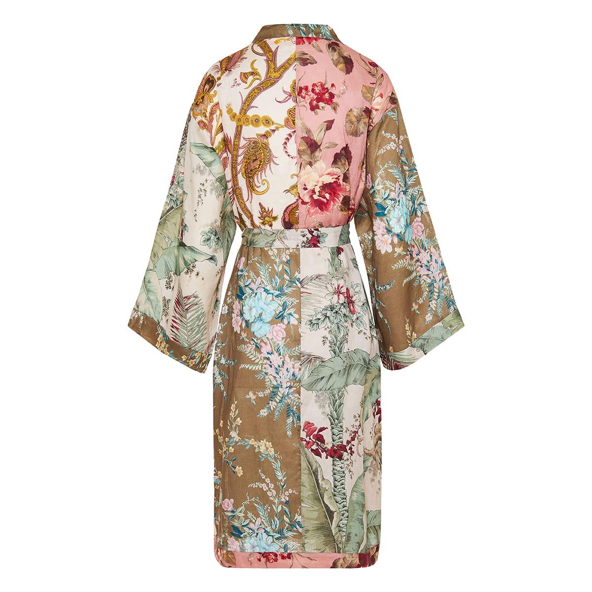 Cassia printed linen robe dress